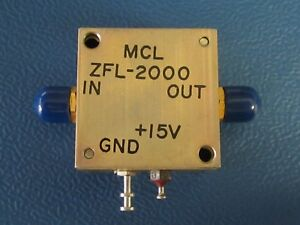 Mini Circuits Zfl 2000 Coaxial Amplifier 10 To 2000 Mhz
