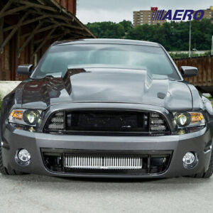 4 Cowl Heat Extractor Fiberglass Hood For 13 14 Ford Mustang Shelby Aero