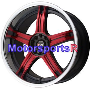 Xxr 507 18 X 8 5 9 5 35 Red Spokes Rims Deep Lip Staggered Wheels 4x114 3 4x100