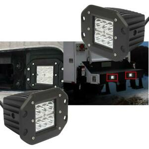 18w Flood Led Cube Pods Work Light Flush Mount For Offroad Truck Jeep Square