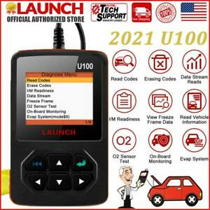 100 Orignal Launch U100 Scanner Obd2 Code Reader Diagnostic Tool As Creader V