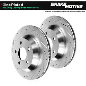Rear Drill Slot Brake Rotors For 94 95 96 97 98 99 00 01 02 03 04 Ford Mustang