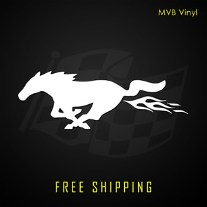Ford Mustang Horse Vinyl Decal Sticker Funny Flames Racing Pony