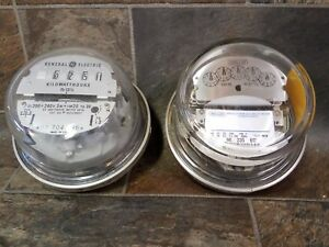 2 Vintage Watt Hour Kilowatt Hour Electric Household Meters