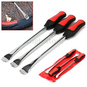 3pcs Tire Lever Tool Spoon Mototrcycle Bike Change Changing Steel Tool Set Us