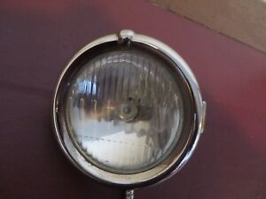 Vintage Original 1929 Reo Right Cowl Light With Conduit And Wiring Nos