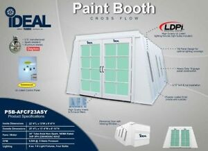 Cross Flow Paint Booth inside Access Lights nut bolt powder Coated control Box