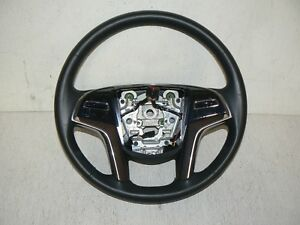 15 17 Cadillac Escalade Steering Wheel Black Leather Oem