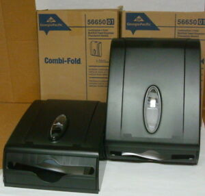 Two Combi fold Multifold Paper Towel Dispensers Georgia pacific Gp 56650