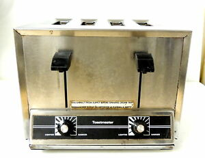 Toastmaster 4 slice Stainless Heavy Duty Commercial Toaster Model Tp44 ht424