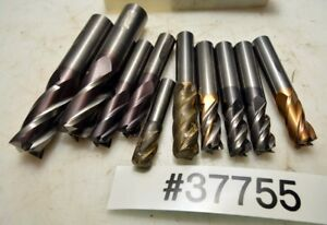 1 Large Lot Of Carbide End Mills inv 37755