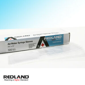 Redland Air water Syringe Sleeves Disposable 2 5 x10 500 box fda