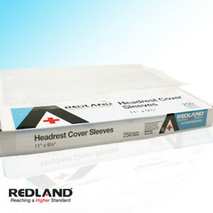 Redland Dental Headrest Cover Sleeves 11 x 9 5 Clear 250 box