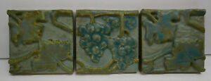 Rookwood Vintage Grape Vine 3 Tile Set