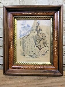 Rare Antique Aesthetic Eastlake Victorian Deep Carved Picture Frame 14 1 2 X 12