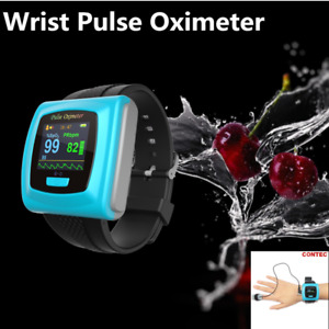 Wrist Fingertip Pulse Oximeter Spo2 Blood Oxygen Monitor alarm usb sw Us Ce Fda