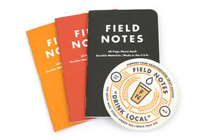 New Field Notes drink Local Ales Notebooks 3 Pack W Coaster
