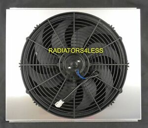 Aluminum Radiator Fan Shroud 16 Fan 68 69 70 71 72 73 74 Chevy Nova 21 Core