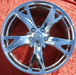 Set Of 4 Chrome 19 Oem Factory Forged Wheels Rims For Nissan 370z 350z 62525