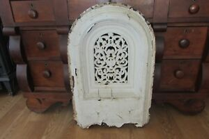 Vintage Cast Iron Fireplace Mantle Fireback Fire Screen Summer Cover 2158fr
