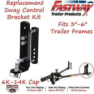 95 01 5600 Fastway Trailer Weight Distribution Hitch Sway Control Kit 6k 14k Gtw