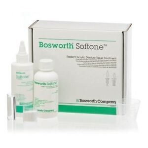 Bosworth Softone Resilient Acrylic Denture Tissue Treatment Kit White 0921775