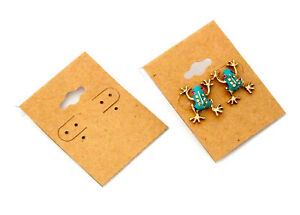 Package Of 100 Natural Color Kraft Earring Cards 2 X 1 5 Inch