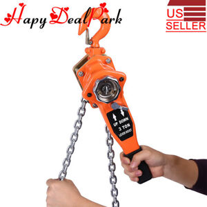 3 Ton 10ft Ratcheting Lever Block Chain Hoist Puller Pulley Milling Alloy Steel