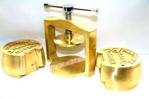 Premium Dental Laboratory Single Lab Press Compress W two Brass Denture Flask