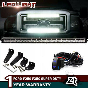 Fit For 2011 2016 F250 F350 30 Inch Slim 150w Front Grille Led Light Bar Wiring