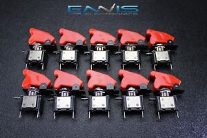 10 Pcs Toggle Switch On Off Rocker Red Led 12v 20 Amp Race Nitrous Eps 3015rd