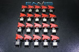 20 Pcs Toggle Switch On Off Rocker Red Led 12v 20 Amp Race Nitrous Eps 3015rd