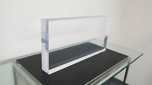 Elegant Polished Edge Acrylic plexiglass lucite Sheet block Base 2 X 6 X 12