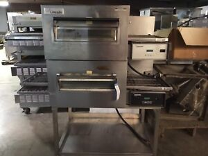 Lincoln Impinger Double Stack Electric Conveyor Pizza Oven