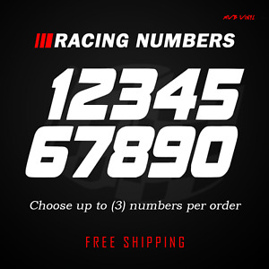Racing Numbers Vinyl Decal Sticker Dirt Bike Plate Number Bmx Competition 500