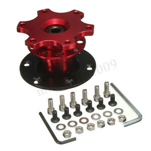 Universal Car Auto Steering Wheel Quick Release Hub Adapter Snap Off Boss Kit Us