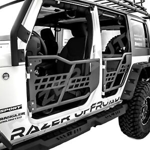 07 18 Jeep Wrangler Jk Rock Crawler Body 4x4 Armor Front Rear Tubular 4 Door Set