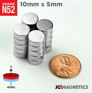 10 Mm X 5 Mm 3 8in X 3 16in N52 Super Strong Disc Rare Earth Neodymium Magnet