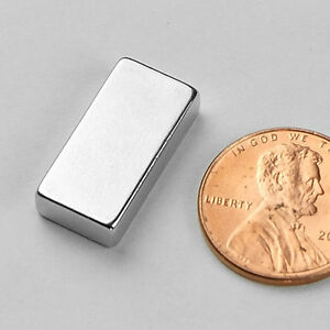 20 Mm X 10 Mm X 5 Mm N52 Super Strong Neodymium Crafts Fridge Magnet Block