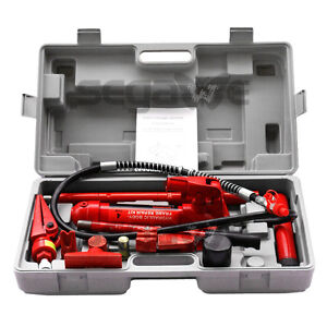4 Ton Porta Power Hydraulic Jack Air Pump Lift Ram Repair Tool Kit Auto Body