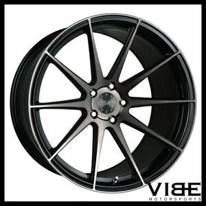 19 Vertini Rf1 3 Black Forged Concave Wheels Rims Fits Hyundai Genesis Coupe