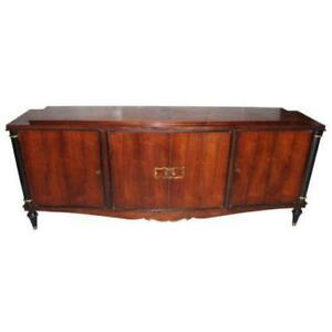 French Art Deco Rosewood Rio Sideboard Buffet Circa 1940 S As Is