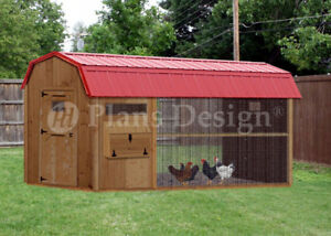6 X 12 Walk In Barn Chicken Coop Plans Material List Included 80612cb