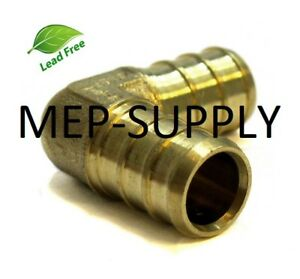 1 Pex Elbow Brass 1 Inch 90 Crimp Fitting Lead Free Lot Of 10