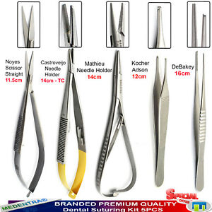 Microsurgical Dissection Kit Small Animals Rodent Surgery Instruments Forceps X5