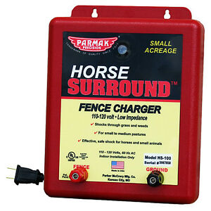 Horse Surround Electric Fence Charger 5mile Low Impedance 110v Parker hs 100