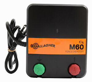 Electric Fence Charger M60 0 6 Joules 110v Gallagher G383414