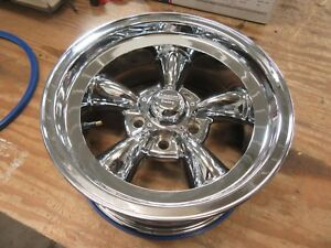 Chevrolet 15 X 7 Gm American Racing Torq Thrust Ii Chrome Wheel Rim 3 3 4 Back