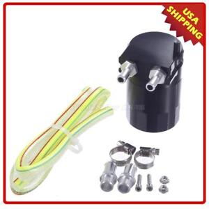 Universal W1 Oil Catch Tank Can Baffled Oil Catch Can Tank Ver 1 Black