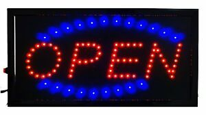 Business Open Sign Hanging Led Display Color Animated Outdoor Window Flashing